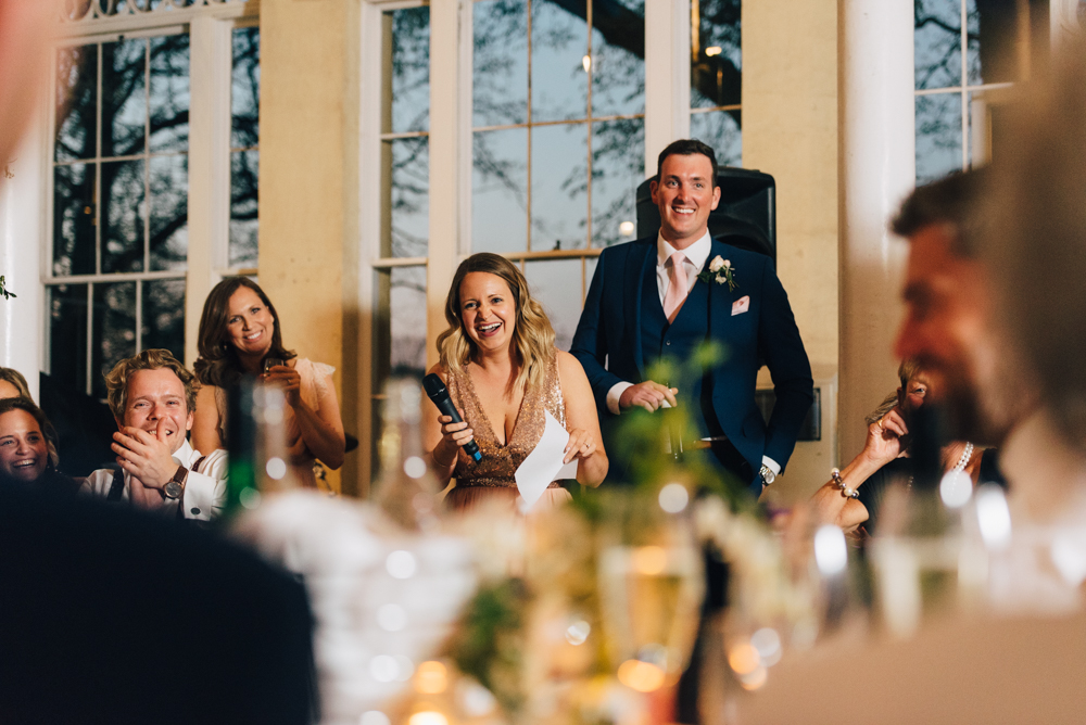 maid of honour gives wedding speech syon park