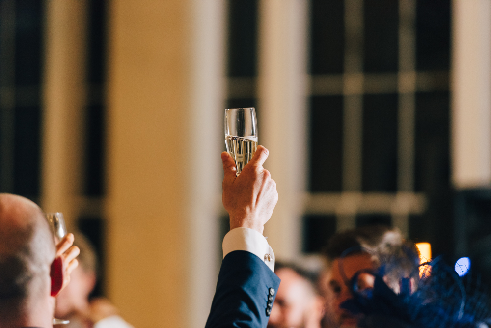 Champagne glass speech toast cheers