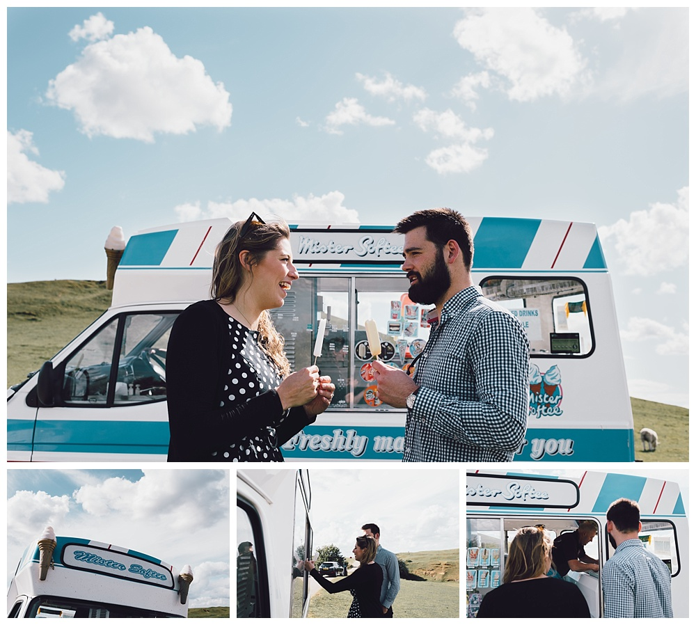 ice cream van scenic engagement shoot