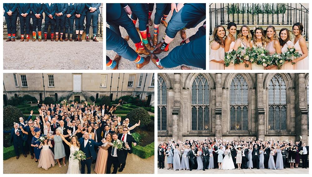 Wedding day photography timeline group photos