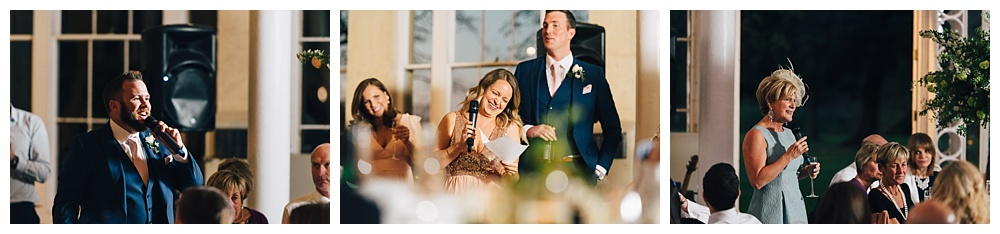 Wedding day speeches
