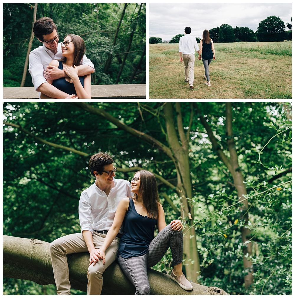 london hampstead heath engagement