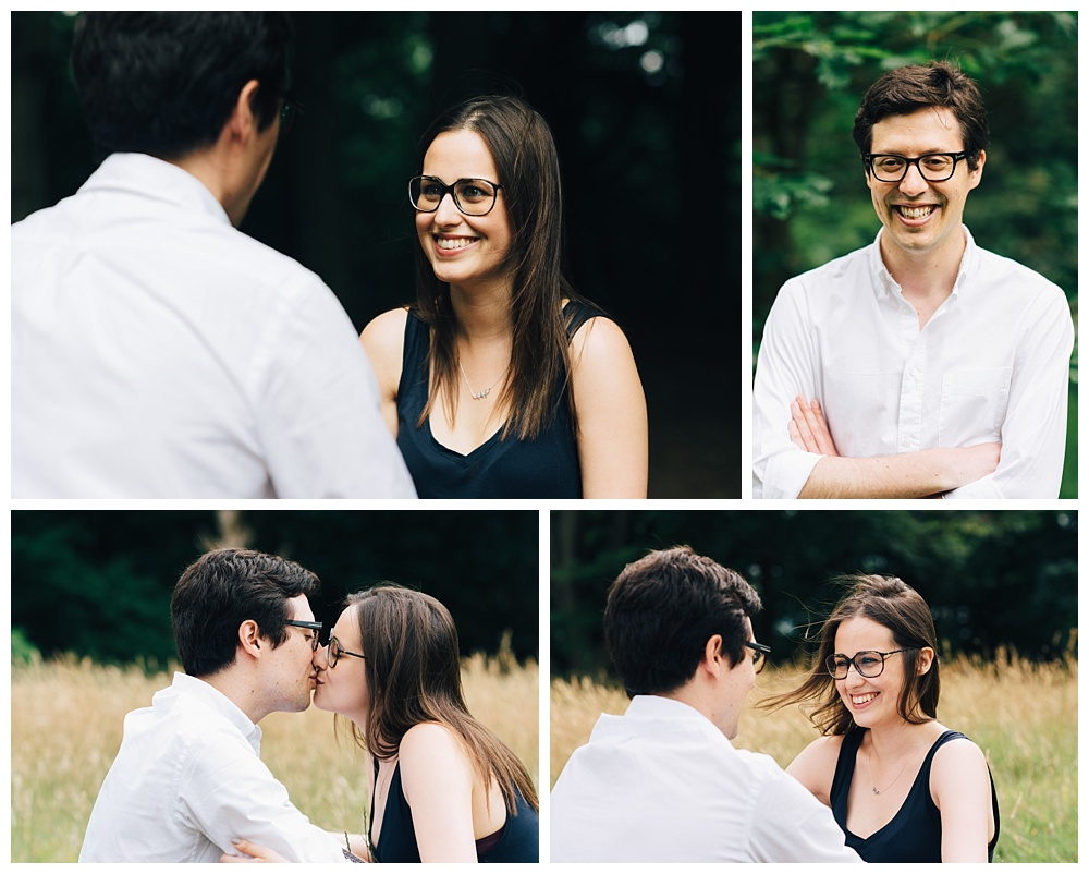 laughter and smiles from happily engaged couple