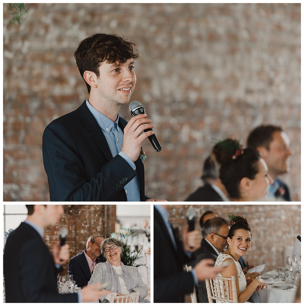 Speeches at wedding venue east london wedding photography