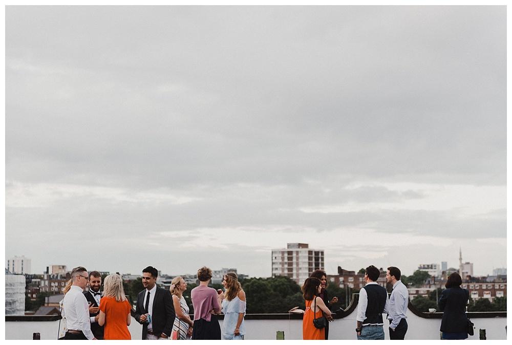 Shoreditch park wedding view