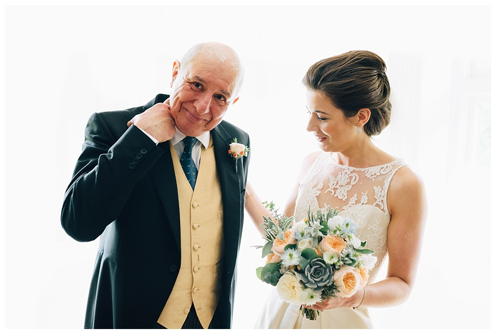 Bride and father of the bride - Wedding Photography Approach