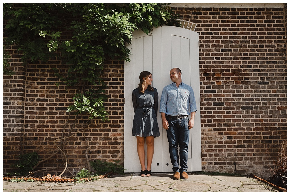 Couples' engagement shoot in Brockwell Park