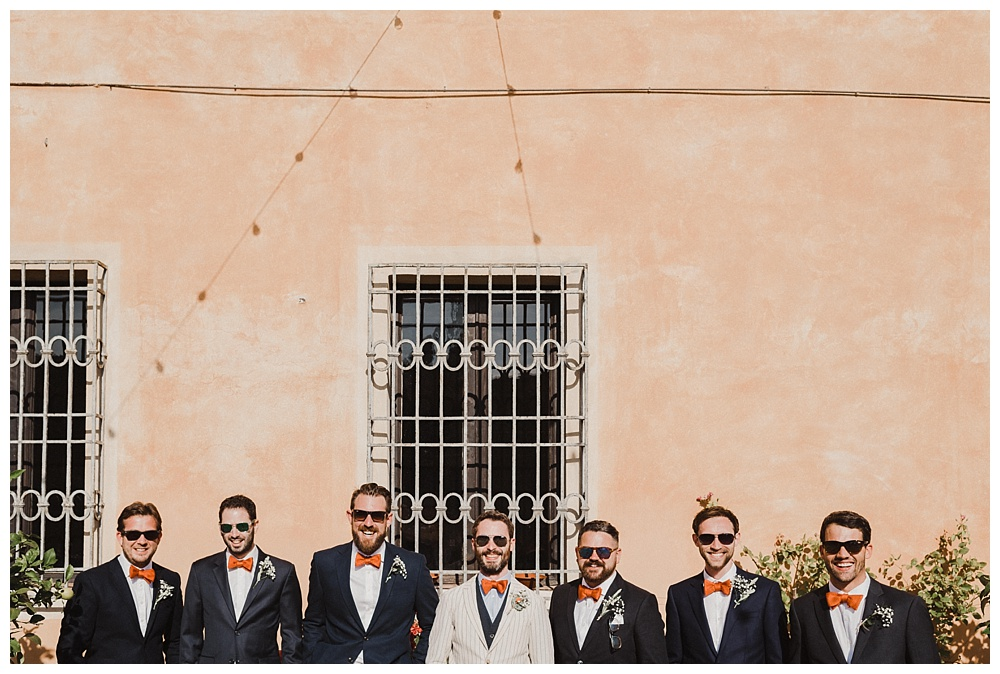 Groomsmen before wedding villa catignano wedding photography