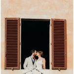 Bride and groom italian portraits