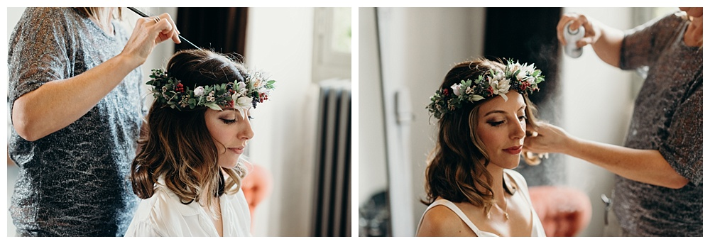 France Wedding Photographer - bride gets ready