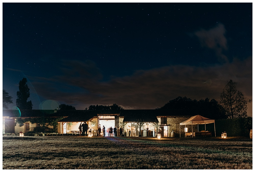 Bordeaux wedding photographer - the venue at night
