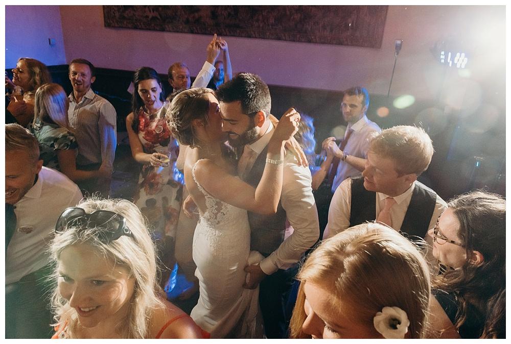 Summer barn wedding - the first dance.