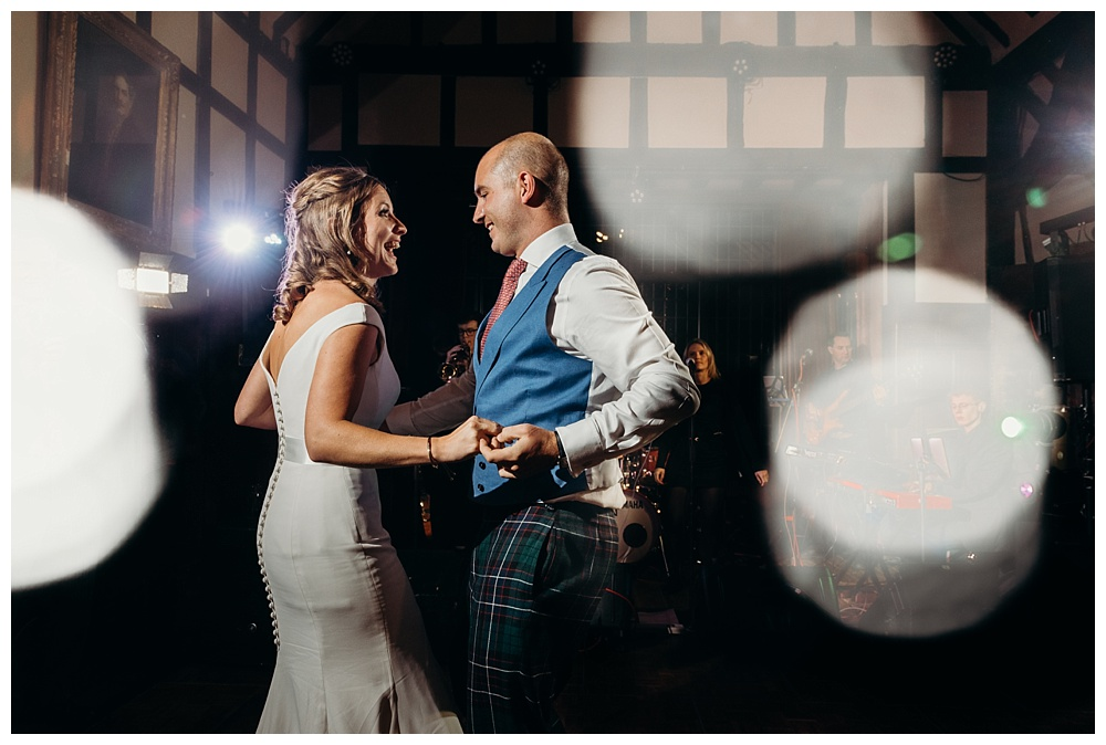 First dance at Ramster Hall wedding.