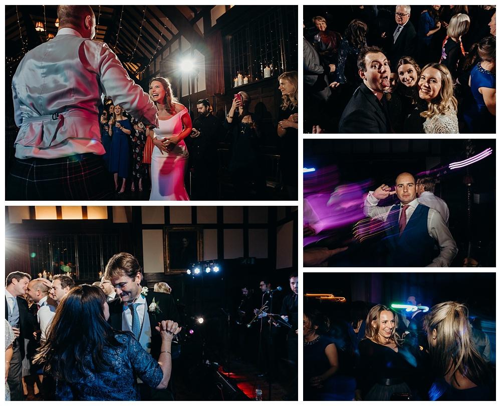 Dancefloor at Ramster Hall wedding, Surrey.