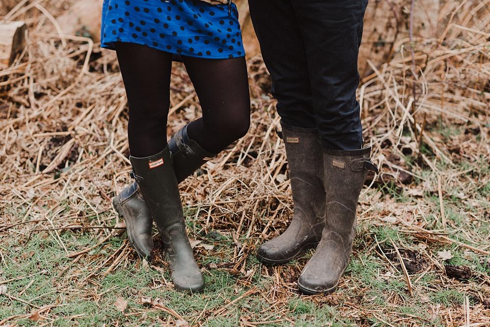 Hunter Wellies Richmond Park Engagement Shoot