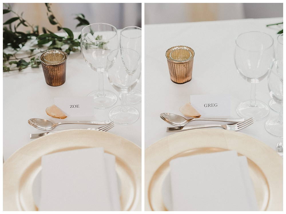 Barton Hall White and Gold Tablescape