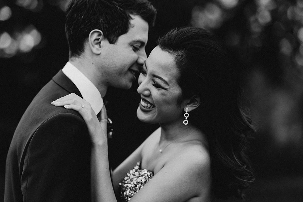 Barton Hall Wedding Photographer Bride and Groom Black and White Portrait