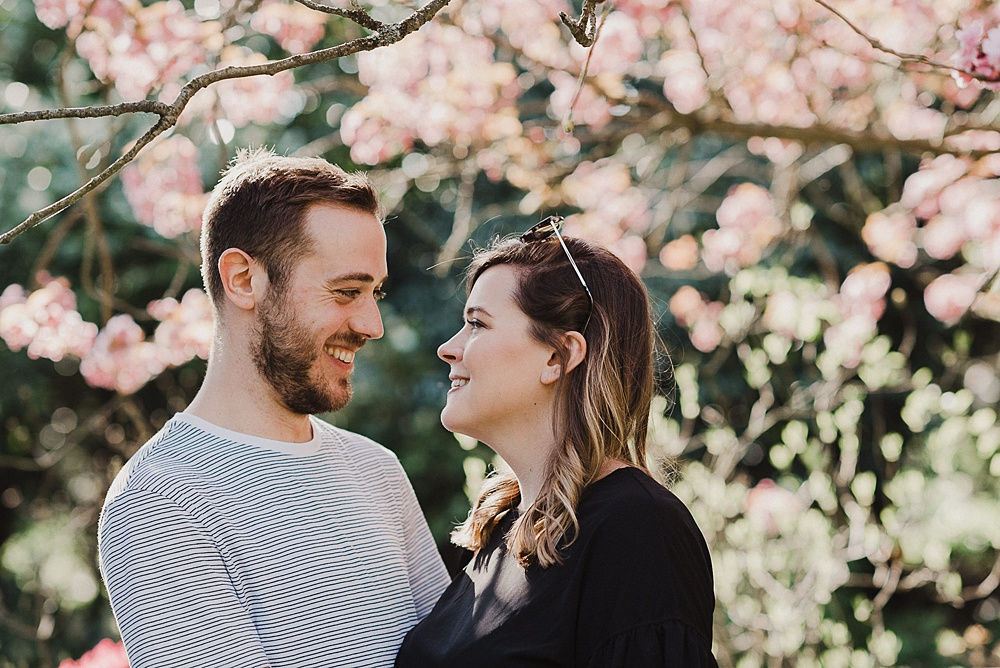 Will Patrick Photography Engagement Portrait with Spring Blossom