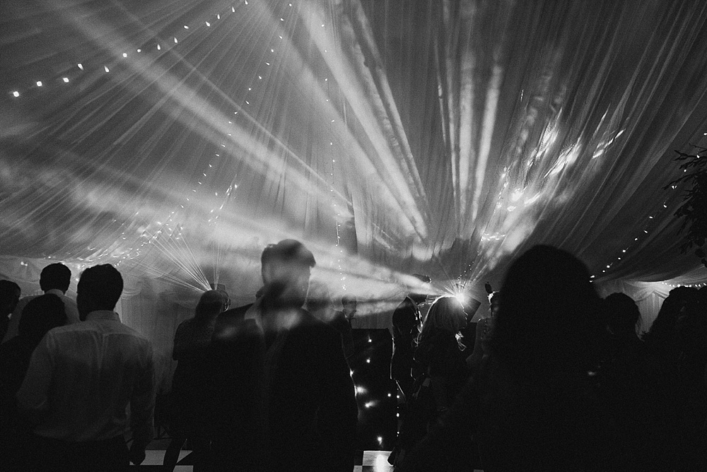 Will Patrick Wedding Photography Black and White Dance Floor Evening Reception