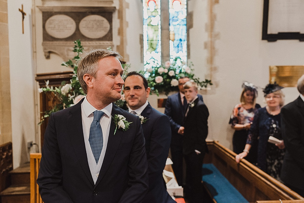 West Sussex Church Wedding Groom's First Look