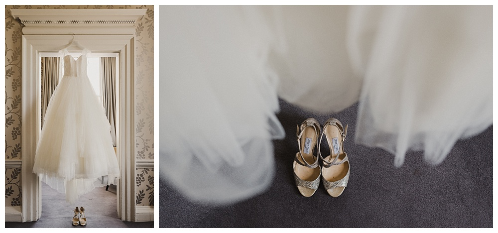Will Patrick Wedding Photography Phillipa Lepley Gown and Jummy Choo Shoes