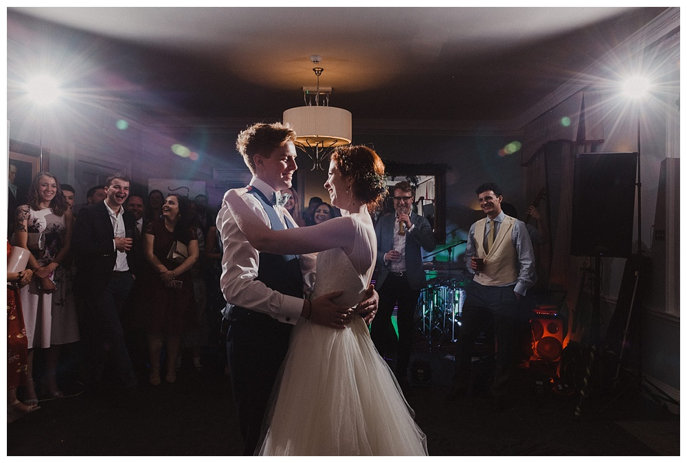 Bride and groom first dance Morden Hall South London