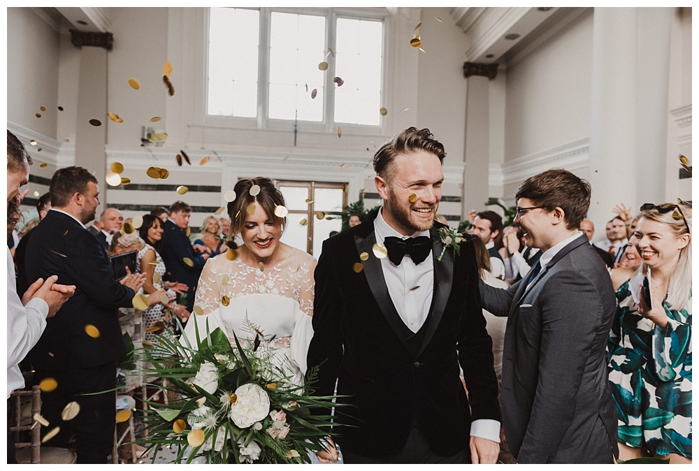 Sunbeam Studios Wedding Confetti Shot