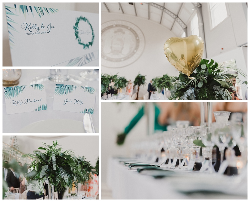 Palm Tree Theme Wedding Decor