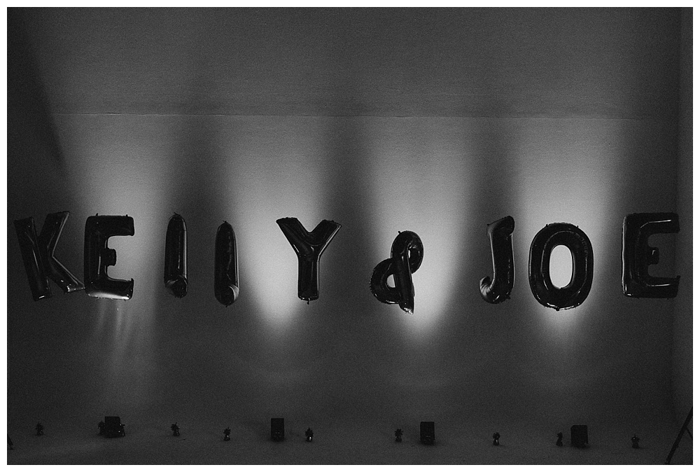 Kelly and Joe balloons Sunbeam Studios West London wedding