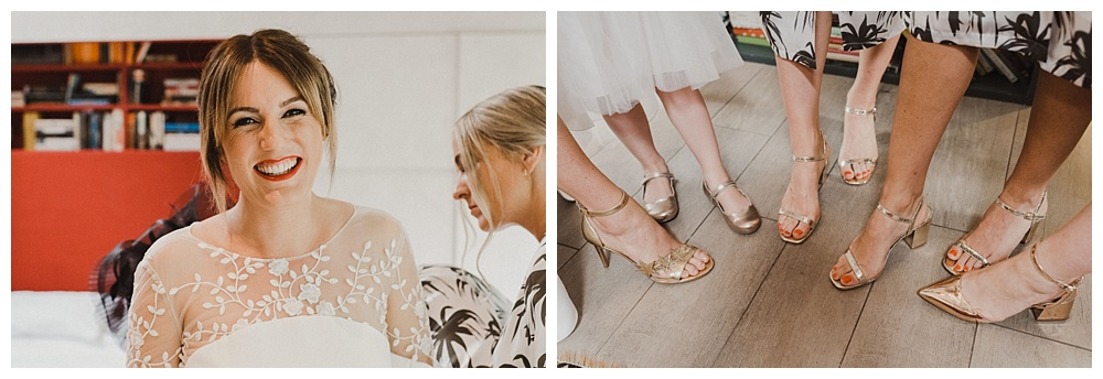 Will Patrick Photography Gold Wedding Shoes