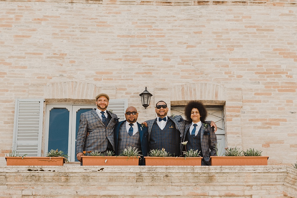 Italian Destination Wedding Photography Groom and His Best Men